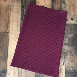 Loft Outlet Petite XSP Burgundy Knit Skirt